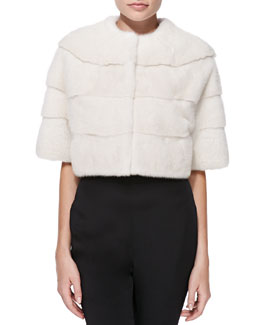 Monique Lhuillier Mink Fur Bolero Jacket