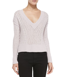 Cashmere Slim Cable-Knit Sweater