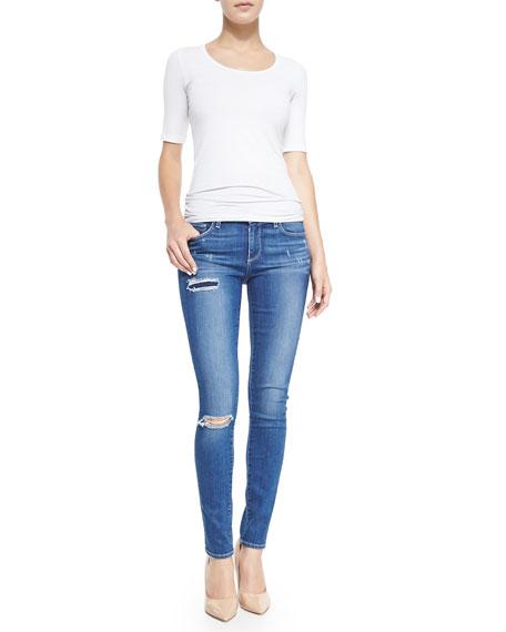 Verdugo Ultra-Skinny Torn Jeans, Carmen Tear