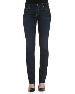 7 For All Mankind Kimmie Straight-Leg Jeans, Slim Illusion Classic Dark Blue