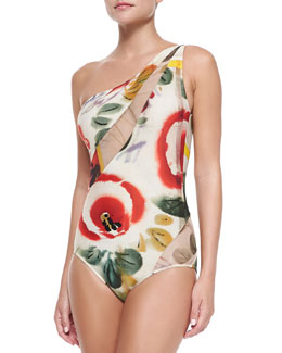 Printed/Mesh One-Piece