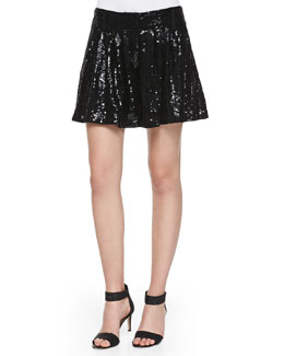 Aleah Sequined A-Line Mini Skort