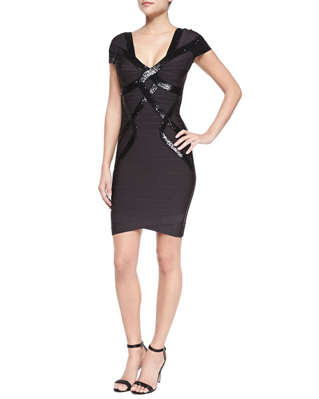 Sequin Novelty Dress, Anthracite