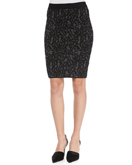 Knit Lace Pencil Skirt