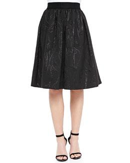 Monica A-Line Jacquard Skirt