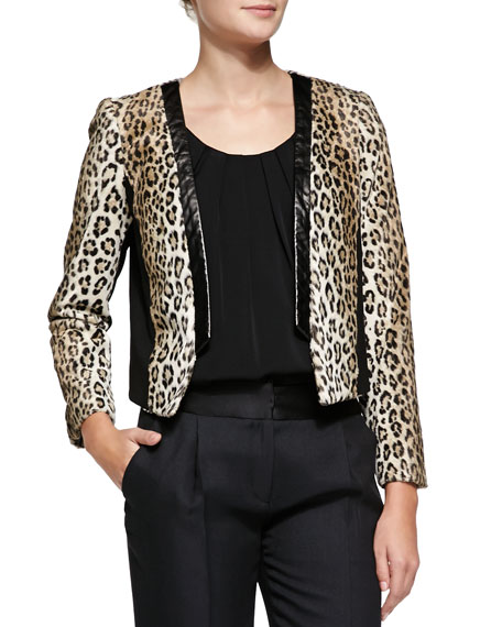 Sidney Cheetah-Print Jacket