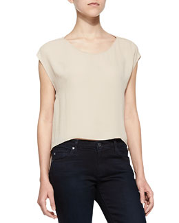 Cap-Sleeve Top with Cutout Back