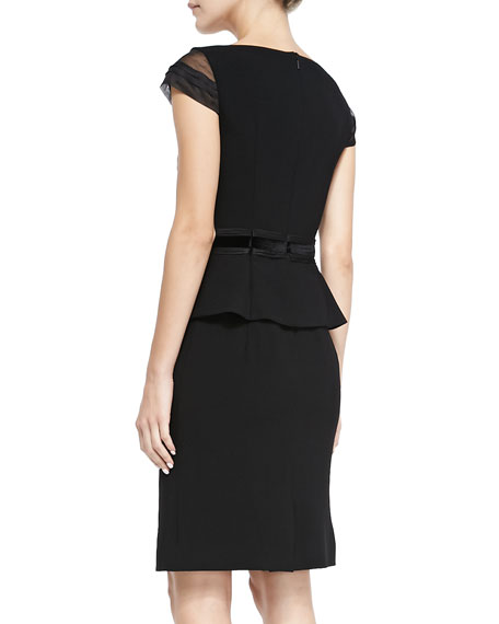Ashley Cap-Sleeve Peplum Dress