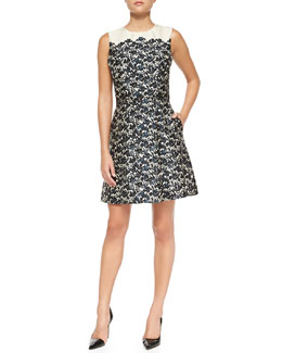 Tory Burch Rayna Floral-Print Satin Dress