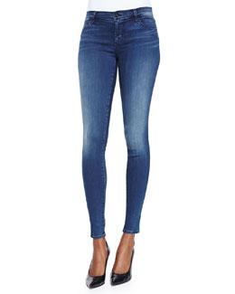 J Brand Jeans Mid-Rise Super Skinny Jeans, Suspense