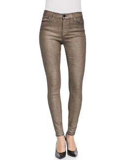 J Brand Jeans 620 Gold Dust Mid-Rise Super Skinny Jeans