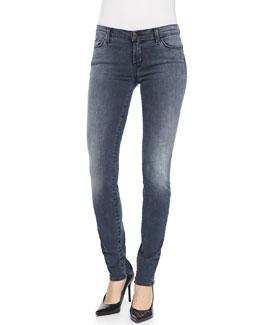 J Brand Jeans Kmaila Crush Zip-Back Skinny Jeans