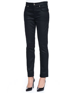 7 For All Mankind Slick Relaxed Skinny Jeans, Black