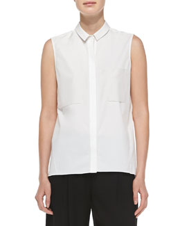 Shelby Sleeveless Bodice-Strap Blouse