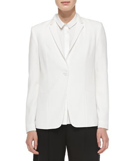 Winnie One-Button Embellished Collar Jacket
