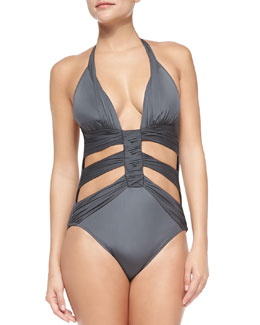 Dream Weaver Cutout One-Piece Swimsuit