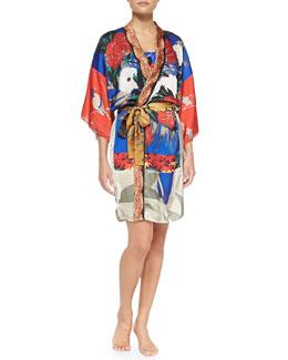 Mandarin-Inspired Kimono Coverup