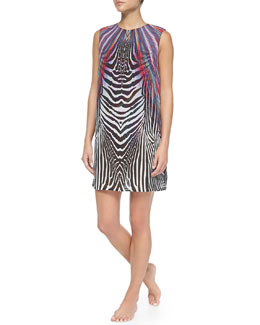 Rainbow/Zebra-Print Tunic Dress