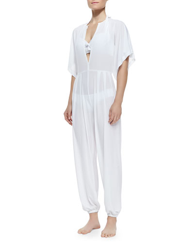 Rectangle Jog Jumpsuit, White