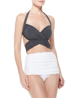 Bill Mio Crisscross One-Piece Swim Suit