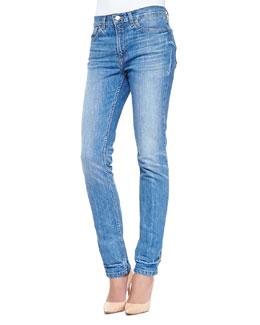 Drainpipe Faded Slim Denim Jeans