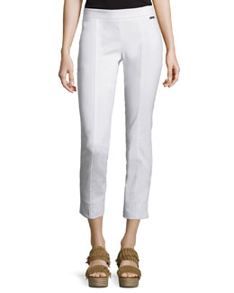 Callie Skinny Ankle Pants, White