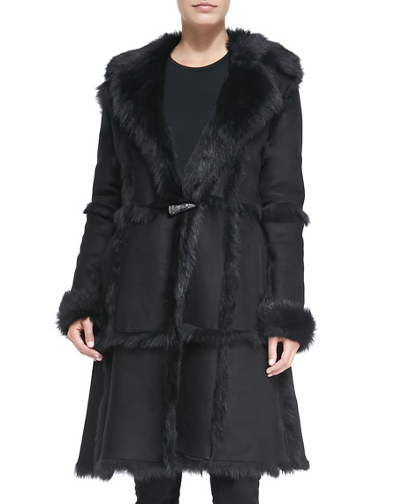 Long Toscana Shearling Fur Coat