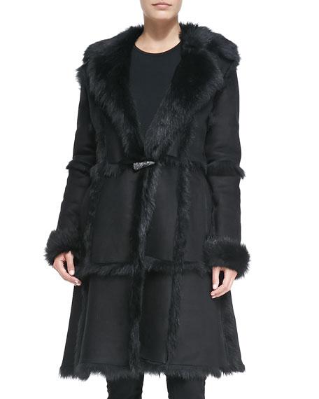 Long Toscana Shearling Fur Coat