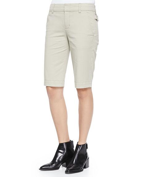 Twill Bermuda Shorts, Light Khaki