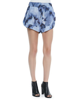 Odilon Printed High-Leg Shorts