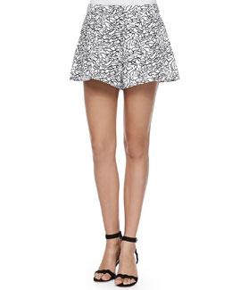 Rey Printed Wide-Leg Shorts