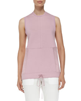 Drift Sleeveless Drawstring-Hem Sweatshirt, Rind