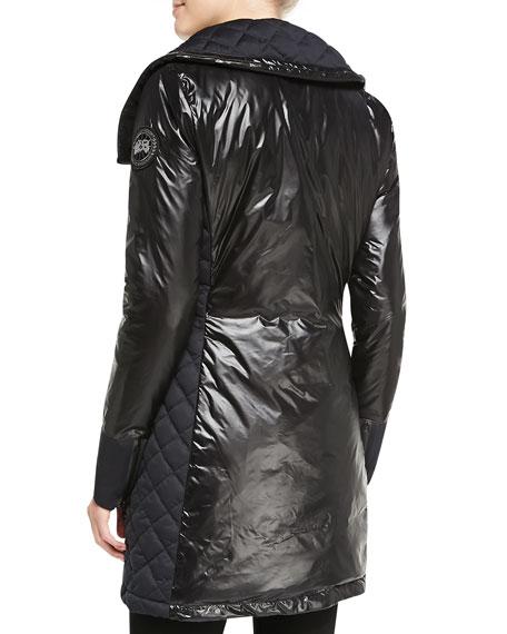 Cassidy Asymmetric-Zip Mid-Length Jacket