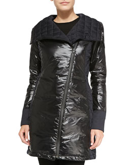 Cassidy Asymmetric-Zip Mid-Length Jacket