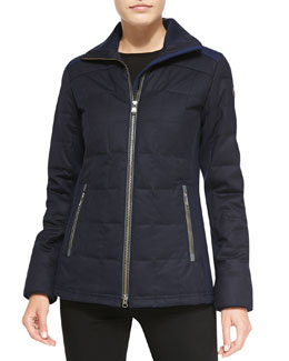 Sable Quilted Zip Jacket