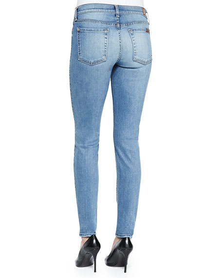 Slim Illusion Skinny Jeans W/ Contouring, Blue