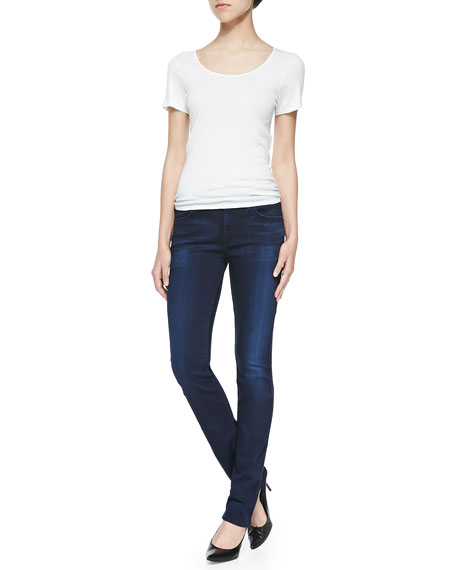 The Modern Straight Leg Jeans, Pristine Blue Black