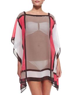 Semisheer Mondrian Tunic Coverup