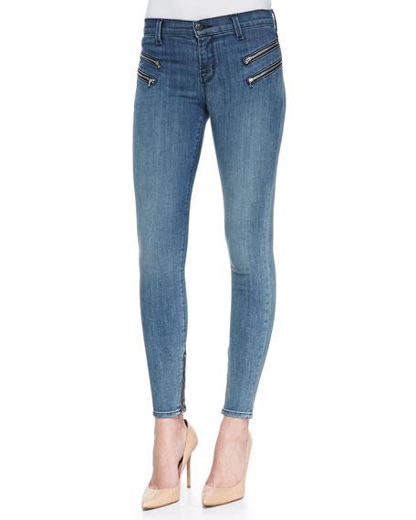 Cass Beatnik Moto Zip Skinny Jeans