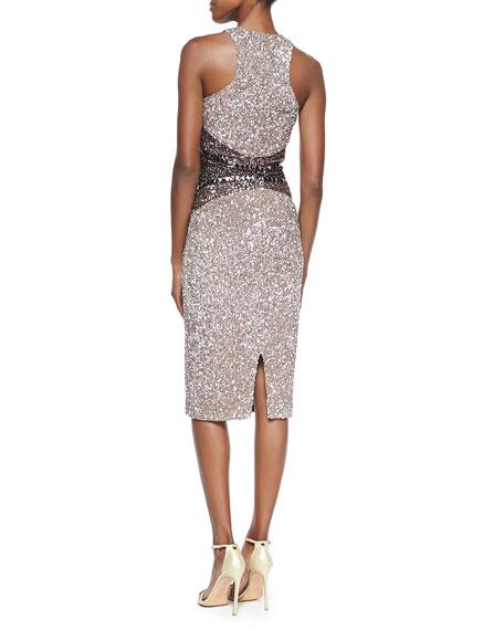 Signature Sequin Ombre Sheath Dress