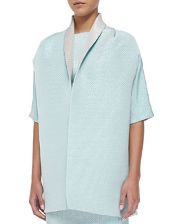 Diona Glazed Check Cape
