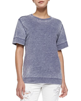 Gaya Short-Sleeve Knit Top