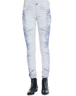 Nedira Splash-Print Skinny Jeans
