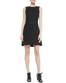 Mijo Sleeveless Dress W/ Lace Bodice Panel