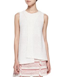 Sleeveless Crossover Crochet Top