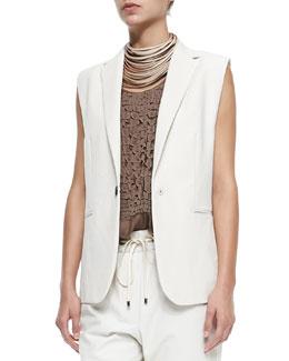 Clean Canvas Snap-Button Vest