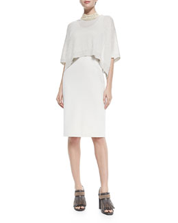 Dress W/ Popover Top Overlay