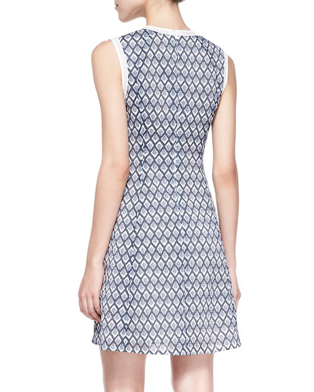 Frozen Diamond-Print A-Line Dress
