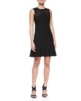 Maureen Cutout-Front Knit Dress