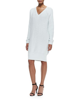 Ribbed Lightweight Sweaterdress, Chrysanthemum